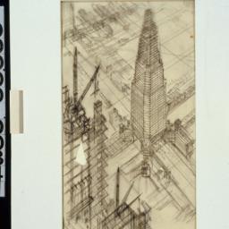 Imaginary drawings.Skyscraper
