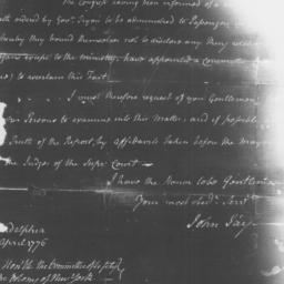 Document, 1776 April 27