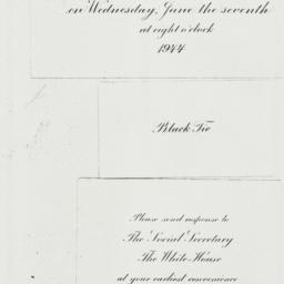 Invitation: 1944 June 7