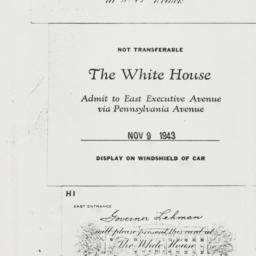 Invitation: 1943 November 9