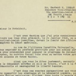 Letter: 1948 February 19