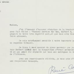Letter: 1964 December 8