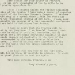 Letter: 1948 March 9