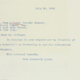 Letter: 1936 July 30