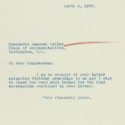 Letter: 1933 April 4
