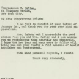 Letter: 1930 January 3