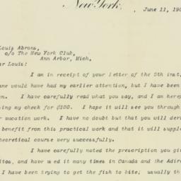 Letter: 1907 June 11