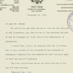 Letter: 1937 November 15