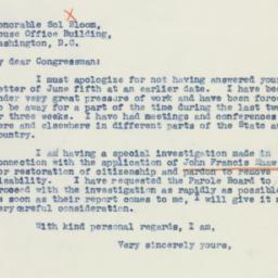 Letter: 1942 July 8