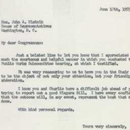 Letter: 1955 June 18