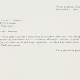 Letter: 1929 December 4