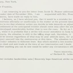 Letter: 1929 December 17