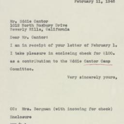 Letter: 1946 February 11