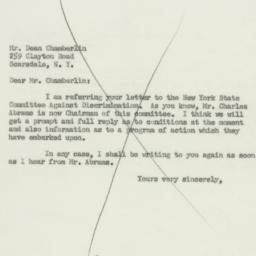Letter: 1956 January 13