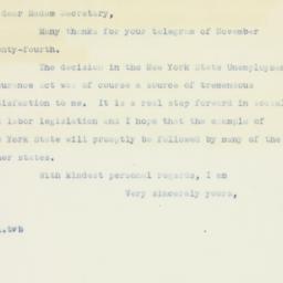 Letter: 1936 November 29