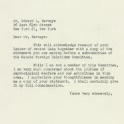 Letter: 1953 March 31