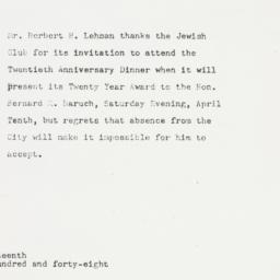 Letter: 1948 March 19