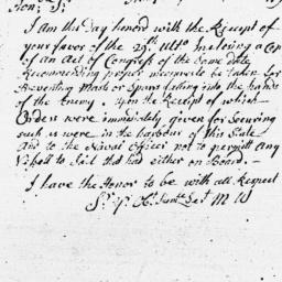 Document, 1779 January 16
