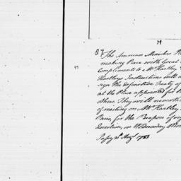 Document, 1783 August 30