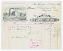 California Sugar Refinery. Bill - Recto
