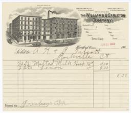 Williams & Carlton Company. Bill - Recto