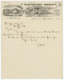 Toccoa Furniture & Lumber Company. Letter - Recto