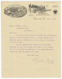 Mutual Fertilizing Company. Letter - Recto
