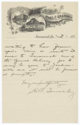 Chas F. Graham. Letter - Recto