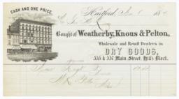 Weatherby, Knous & Pelton. Bill - Recto