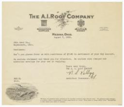 A. I. Root Company. Letter - Recto