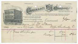 Cincinnati Tin & Japan Company. Bill - Recto