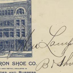 Akron Shoe Co.. Envelope
