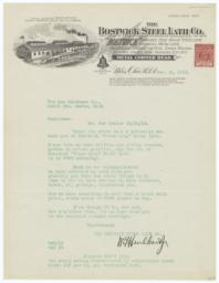 Bostwick Steel Lath Co.. Letter - Recto