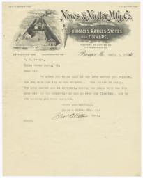 Noyes & Nutter Mfg. Co.. Letter - Recto