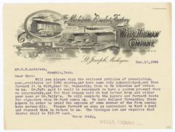 Wells, Higman Company. Letter - Recto