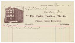 Big Rapids Furniture Manufacturing Co.. Bill - Recto