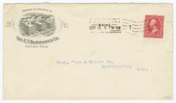 E.T. Burrowes Co.. Envelope - Recto