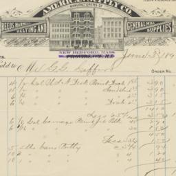 American Supply Co.. Bill