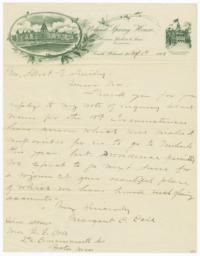 Poland Spring House. Letter - Recto