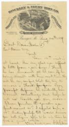 Hinckley & Egery Iron Company. Letter - Recto
