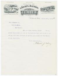 A. Backus, Jr. & Sons. Letter - Recto