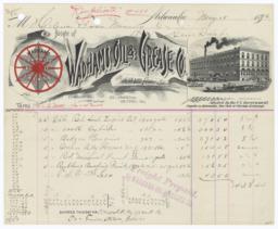 Wadhams Oil & Grease Co.. Bill - Recto