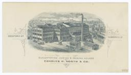 Charles H. North & Co.. Card stock - Recto
