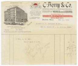 C. Berry & Co.. Bill - Recto