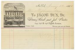 Jacob Dux. Bill - Recto