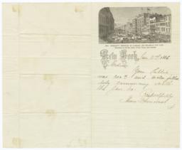Mme. Demorest's Emporium of Fashion. Letter - Recto