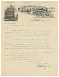 C. H. & E. S. Goldberg. Letter - Recto