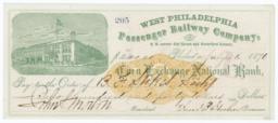 West Philadelphia Passenger Railway Company. Check - Recto