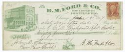 B. M. Ford & Co,. Check - Recto