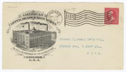 American Copper Brass & Iron Works. Envelope - Recto